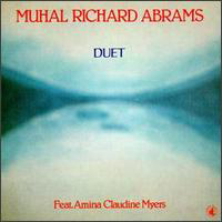 CD cover of Muhal Richard Abrams DUET, Featuring Amina Claudine Myers