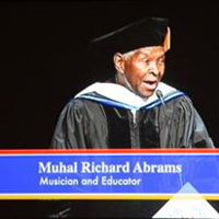 A photo Dr. Muhal Richard Abrams Doctor of Humane Letters honoris causa and 2015 Keynote Commencement Speaker, DePaul University School of Music and The Theatre School,</a> <br> DePaul University