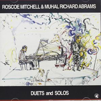 CD cover of DUETS AND SOLOS with Roscoe Mitchell and Muhal Richard Abrams